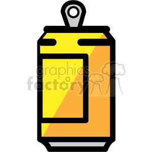 yellow soda can icon clipart. Royalty-free image # 398222