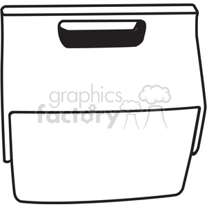 outline of a cooler clipart. Royalty-free image # 398242