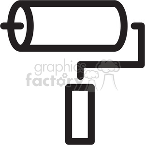 paint roller icon clipart. Royalty-free image # 398367