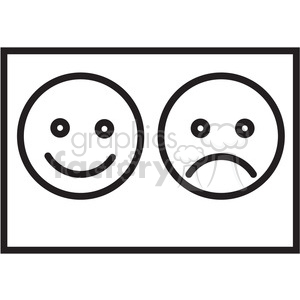 icon black+white symbol symbols happy sad faces