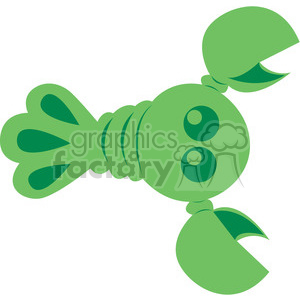 Green Lobster vector image RF clip art clipart. Royalty-free image # 398444