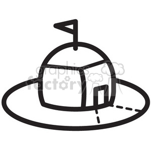 space shelter pod vector icon clipart. Royalty-free image # 398474