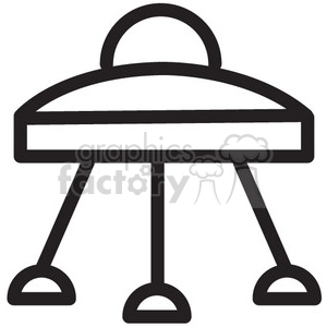 spaceship landing vector icon clipart. Commercial use image # 398484