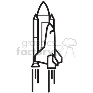 space shuttle in flight clipart. Royalty-free icon # 398534