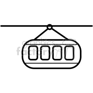 sky trolley vector icon clipart. Royalty-free image # 398544