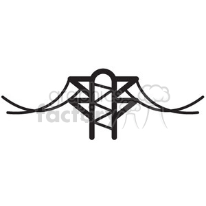 power lines vector icon clipart. Royalty-free image # 398554