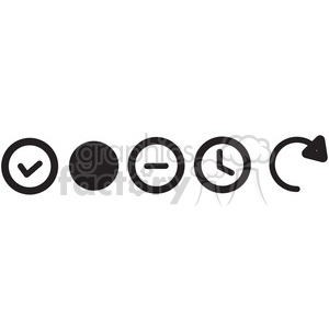icon icons black+white outline symbols SM vinyl+ready check minus reload time