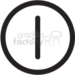 on off symbol vector icon clipart. Royalty-free image # 398597
