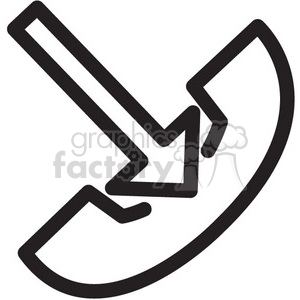 hang up call vector icon clipart. Commercial use image # 398602