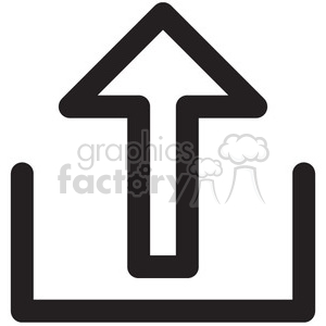 upload vector icon clipart. Royalty-free image # 398612