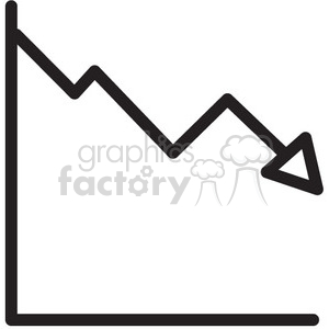 icon icons black+white outline symbols SM vinyl+ready lose profits chart graph
