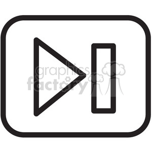 play vector icon clipart. Commercial use image # 398627