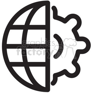world gear vector icon clipart. Royalty-free image # 398637