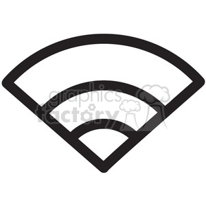 wifi wireless full good signal vector icon clipart. Royalty-free image # 398646