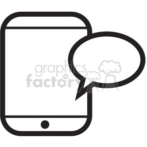 mobile messaging vector icon