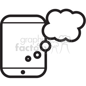 icon icons black+white outline symbols SM vinyl+ready chat message messaging talk social social+media connections connected network device ipad iphone