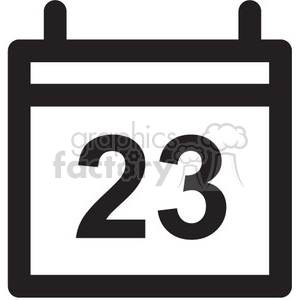 calendar vector icon clipart. Commercial use image # 398686