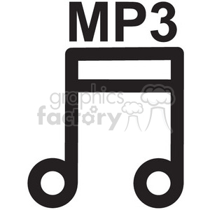 mp3 music file vector icon clipart. Commercial use image # 398701