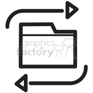 update files vector icon clipart. Royalty-free image # 398706