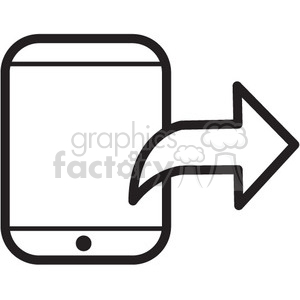 export from iphone vector icon clipart. Royalty-free image # 398711