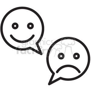 social media emotions vector icon clipart. Royalty-free image # 398716
