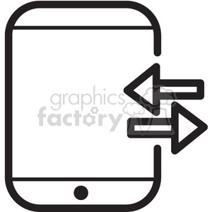transfer to device vector icon clipart. Royalty-free image # 398736