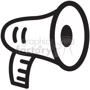 megaphone vector icon clipart. Commercial use image # 398756