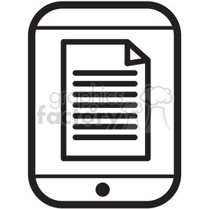 iphone files vector icon clipart. Royalty-free image # 398771