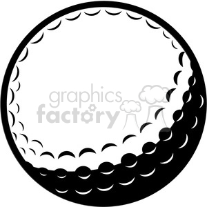 vector golf ball clipart. Commercial use image # 398811