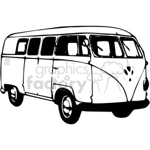 Volkswagen Van clipart. Commercial use image # 374033