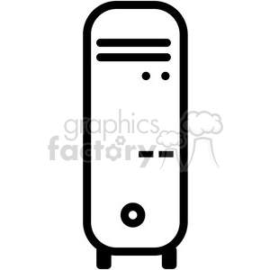desktop computer vector icon clipart. Royalty-free image # 398823