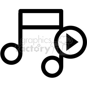 play music vector icon