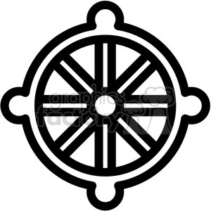 buddhism wheel dharma symbol vector icon clipart. Royalty-free image # 398843