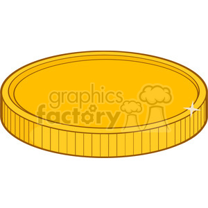 royalty free rf clipart illustration golden coin vector illustration isolated on white background clipart. Royalty-free image # 398968
