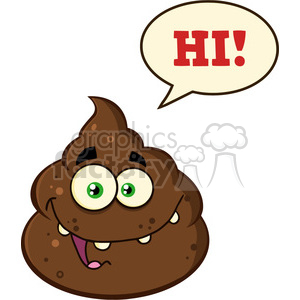 pile smelly poo hi poop cartoon