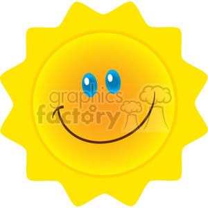royalty free rf clipart illustration smiling sun cartoon mascot character vector illustration isolated on white background clipart. Royalty-free image # 399327