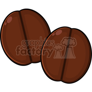 illustration two roasted coffee beans cartoon vector illustration isolated on white clipart. Commercial use image # 399407