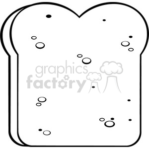illustration black and white cartoon bread slice vector illustration isolated on white background clipart. Royalty-free image # 399538
