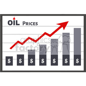 royalty free rf clipart illustration board graph chart for petroleum or oil growth dollar prices vector illustration isolated on white background clipart. Commercial use image # 399558