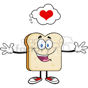 fitness health healthy exercise cartoon character bread food toast breakfast love