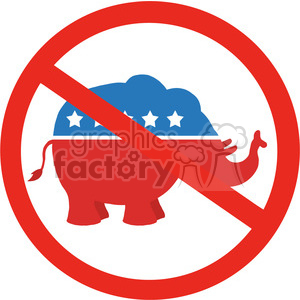 stop republicans circale label vector illustration flat design style isolated on white clipart. Royalty-free image # 399831