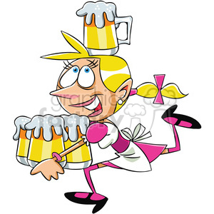 oktoberfest waitress cartoon character clipart. Commercial use image # 400347
