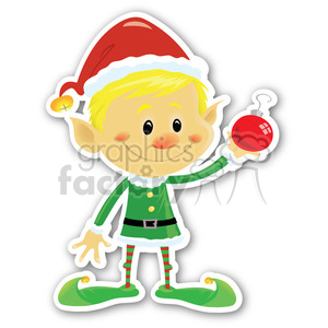christmas elf v3 sticker clipart. Royalty-free image # 400375