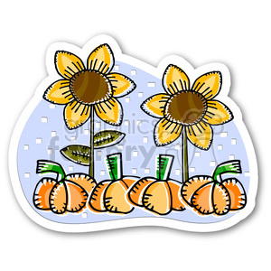 thanksgiving sunflower and pumpkins clipart. Royalty-free image # 400485