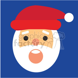 santa head surprised icon vector art clipart. Commercial use image # 400509