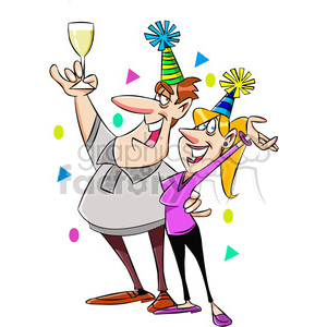 happy+new+year new+years baby celebration cartoon party couple