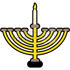 menorah flat vector art clipart. Royalty-free image # 400579