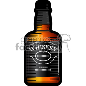 vector whiskey bottle image huge outline clipart. Royalty-free image # 402298