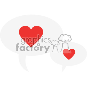 chat bubbles hearts love svg cut files vector valentines die cuts clip art clipart. Royalty-free image # 402318