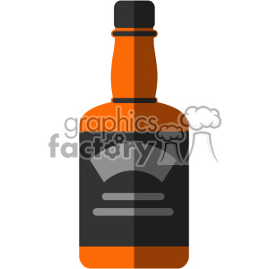 vector whiskey bottle flat design svg cut files with shadow clipart. Commercial use image # 402328